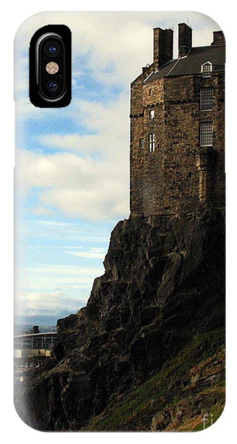 Castle IPhone X Case featuring the photograph Edinburgh Castle by Amanda Barcon