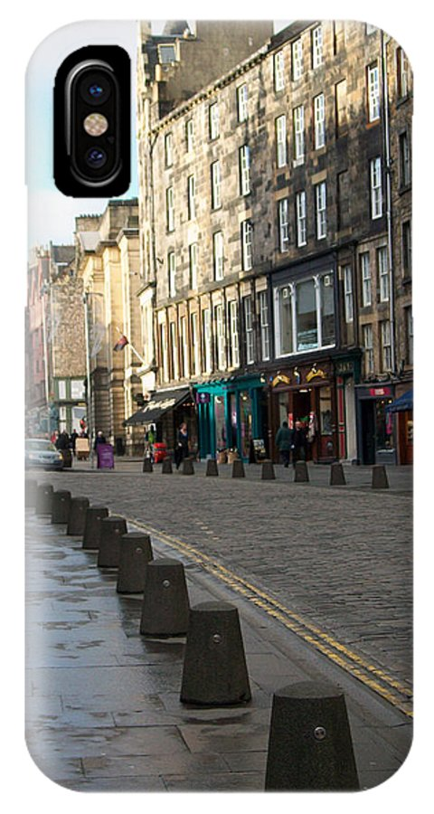 Scotland IPhone X Case featuring the photograph Edinburgh Royal Mile Street by Munir Alawi