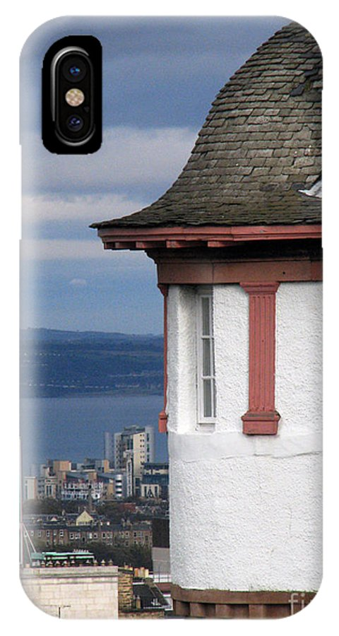 Scotland IPhone X Case featuring the digital art Edinburgh Scotland by Amanda Barcon