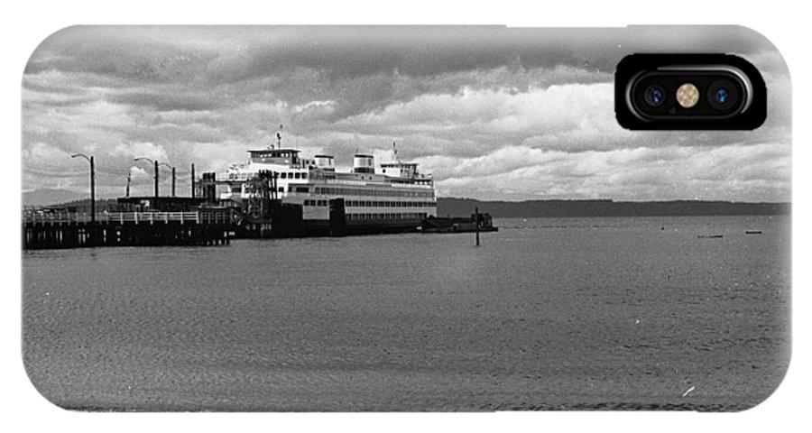 History IPhone X Case featuring the photograph Edmonds Ferry by Karen Ulvestad