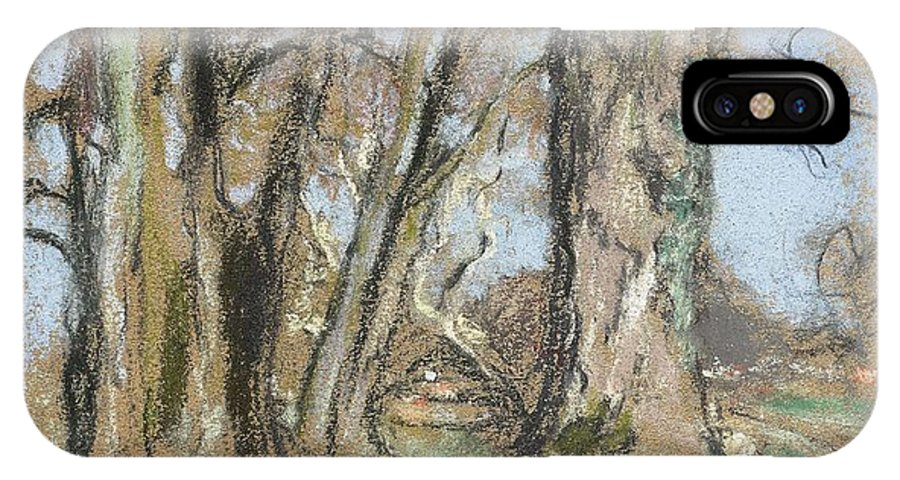 Nature IPhone X Case featuring the painting Edouard Vuillard Cuiseaux 1868-1940 La Baule The Park In Clayes. 1932-1938. by Edouard Vuillard
