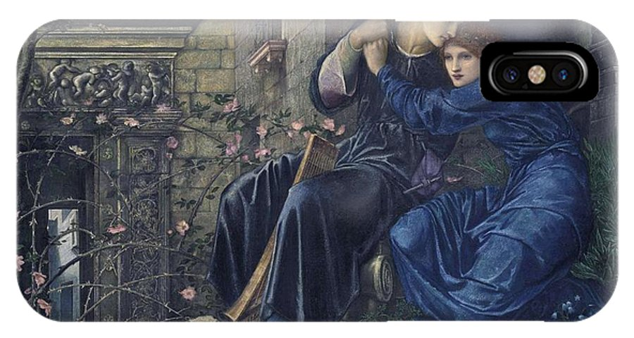 Girl IPhone X Case featuring the painting Edward Burne-jones, Love Among The Ruins, 1894 by Edward Burne-Jones