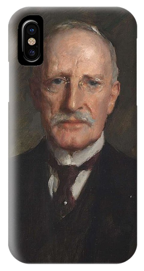 Man IPhone X Case featuring the painting Edward Guthrie Kennedy , By William Merritt Chase 1849-1916 by William Merritt Chase
