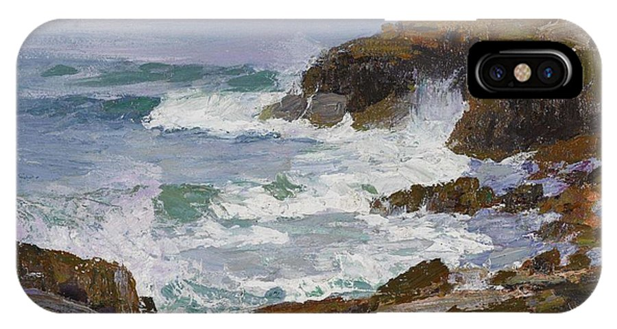 Nature IPhone X Case featuring the painting Edward Henry Potthast 1857 - 1927 Looking Out To Sea by Edward Henry Potthast