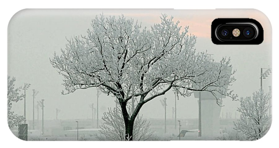 White IPhone X Case featuring the photograph Eerie Days by Christine Till
