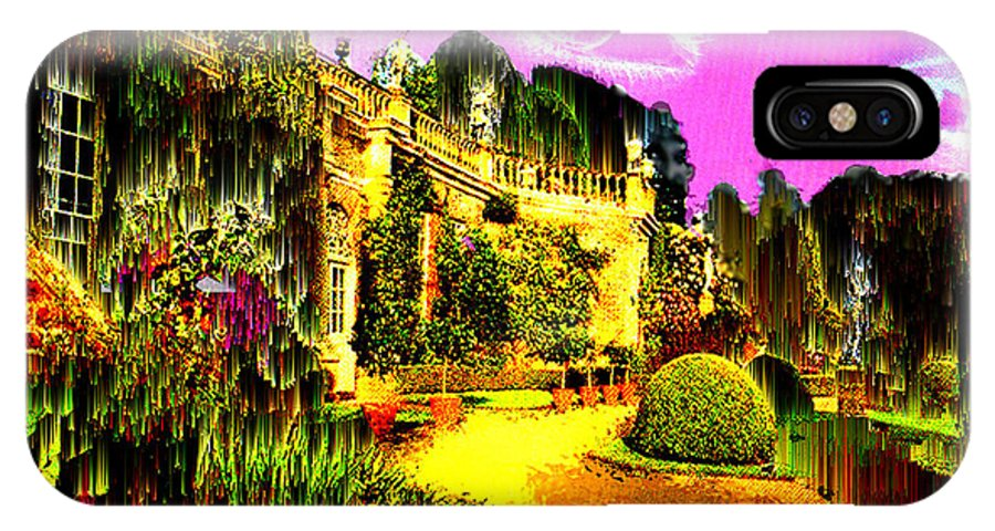 Mansion IPhone Case featuring the digital art Eerie Estate by Seth Weaver