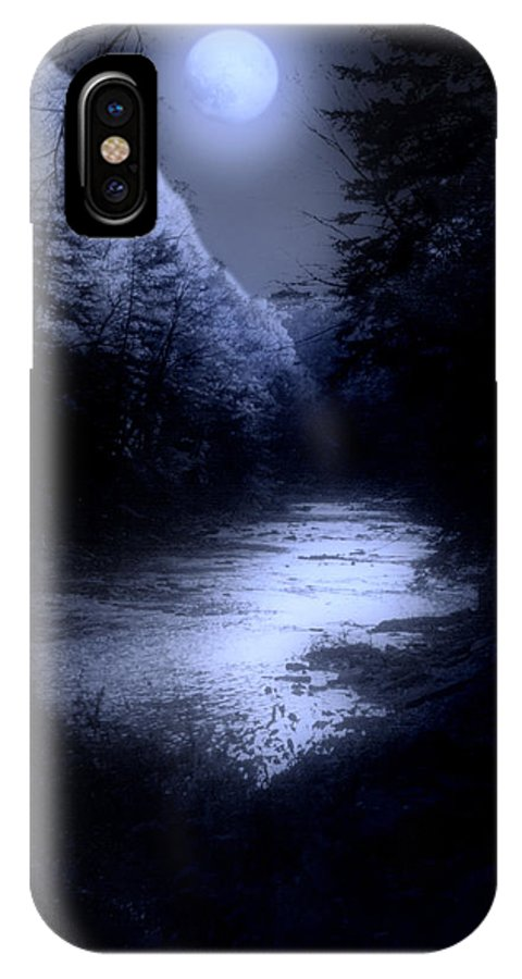 Moon IPhone X Case featuring the photograph Eerie Tranquility by Kenneth Krolikowski