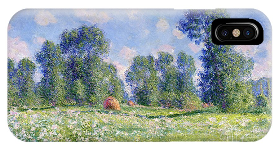 Effect Of Spring IPhone X Case featuring the painting Effect Of Spring At Giverny by Claude Monet