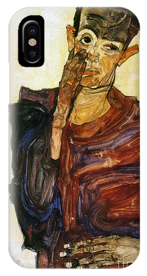1910 IPhone X Case featuring the photograph Egon Schiele (1890-1918) by Granger