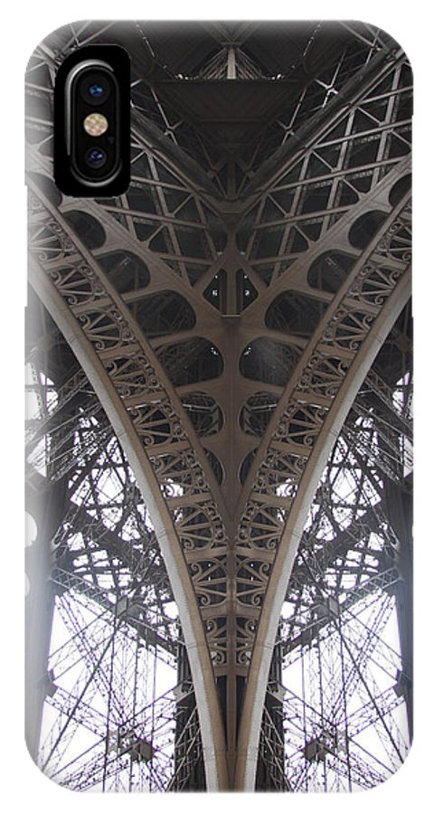 Paris IPhone X Case featuring the photograph Eiffel Midday by Von Hoffman
