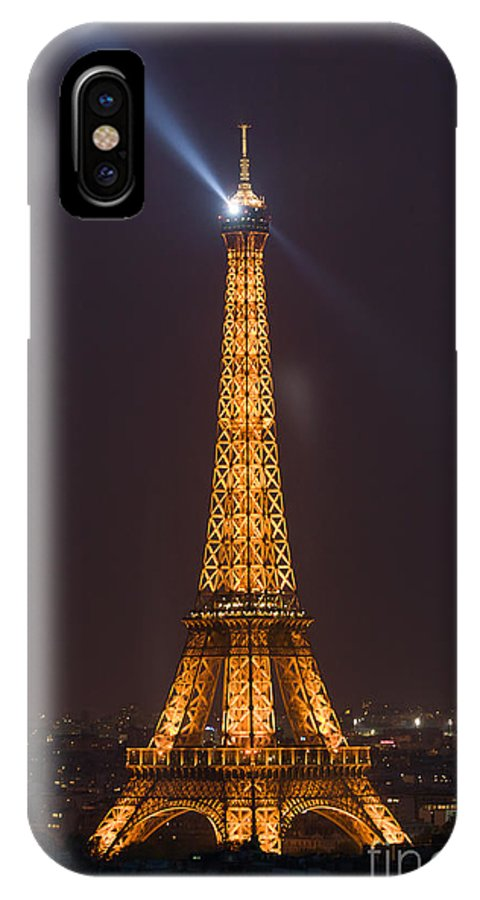 Clarence Holmes IPhone X Case featuring the photograph Eiffel Tower At Night by Clarence Holmes