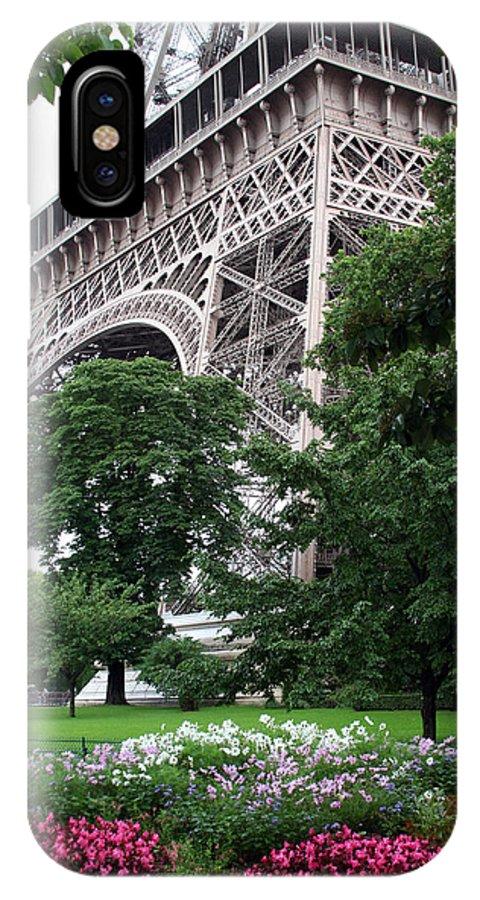 Eiffel IPhone X Case featuring the photograph Eiffel Tower Garden by Margie Wildblood