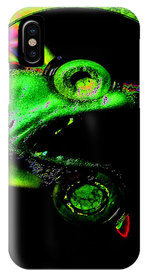 Audio IPhone X Case featuring the photograph Eight Melt by BENNETT Creative Arts