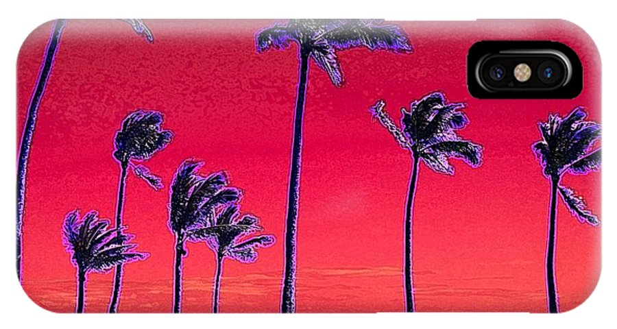 Hawaii IPhone X / XS Case featuring the digital art Eight Palms by Dorlea Ho