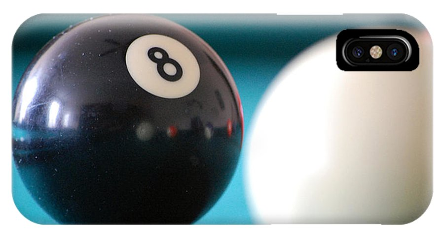 Billiards IPhone X Case featuring the photograph Eightball by Robert Meanor