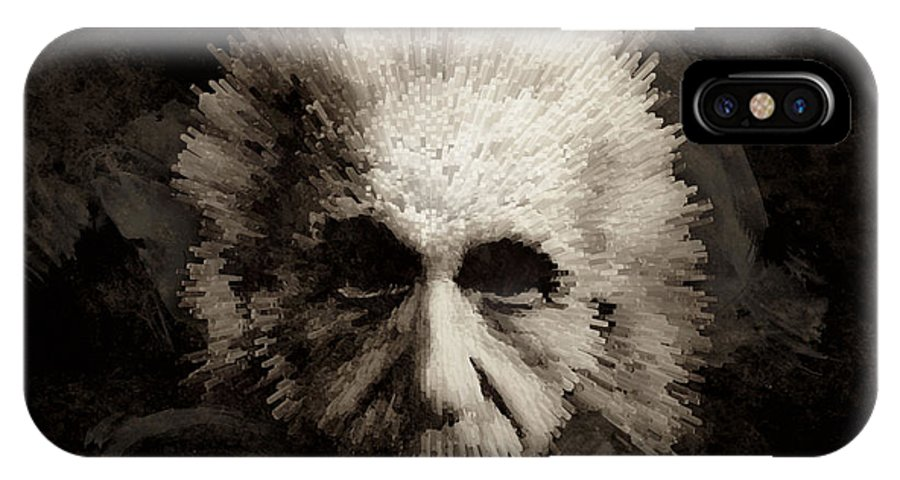 Albert Einstein IPhone X Case featuring the painting Einstein by Laurence Adamson