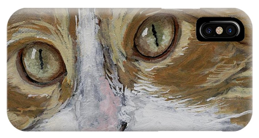 Charity IPhone Case featuring the painting Einstein by Mary-Lee Sanders