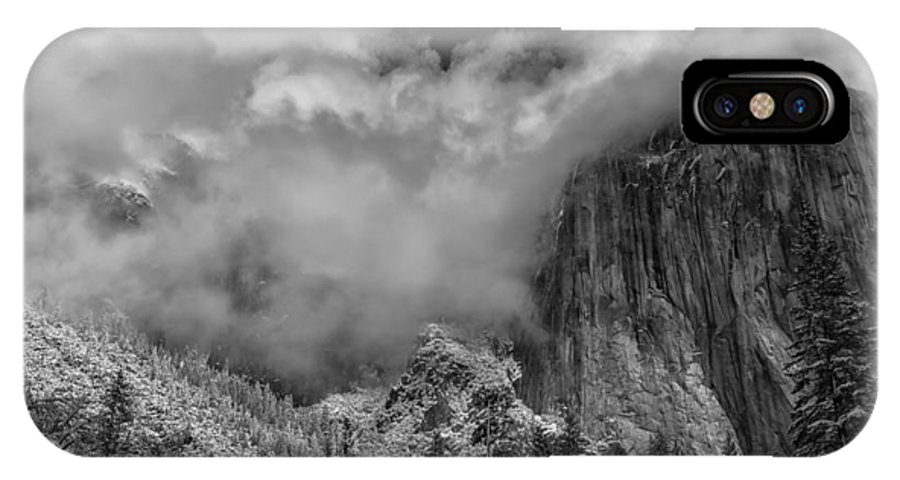 National Park IPhone X Case featuring the photograph El Capitan And The Stormy Clouds by Jonathan Nguyen