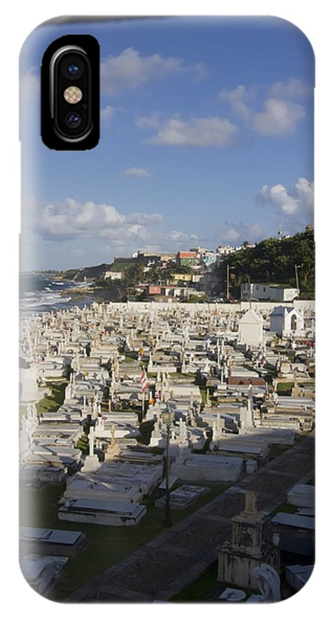 El Morro IPhone X / XS Case featuring the photograph El Morro Cemetery Framed by Sven Brogren
