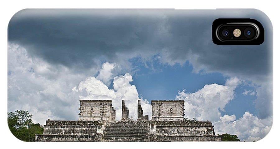 El Templo De Las Columnas IPhone X Case featuring the photograph El Templo De Las Columnas 1 by Douglas Barnett