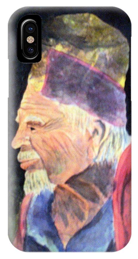 Elder IPhone X Case featuring the painting Elder by Susan Kubes