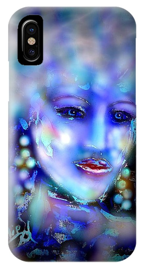 Woman IPhone X Case featuring the painting Electra by Natalie Holland