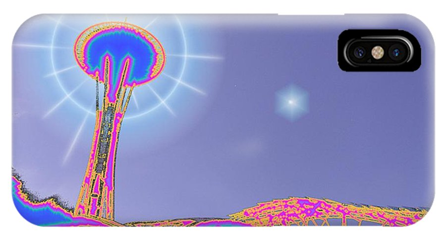 Seattle IPhone X Case featuring the photograph Electric Needle by Tim Allen
