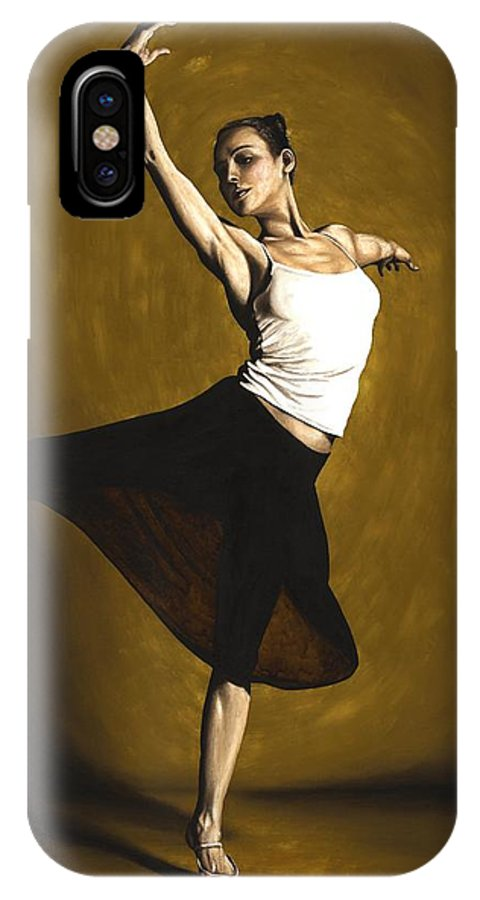 Elegant IPhone X Case featuring the painting Elegant Dancer by Richard Young