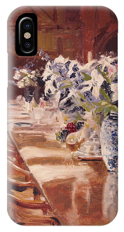 Vases IPhone Case featuring the painting Elegant Dining At Hearst Castle by Barbara Andolsek