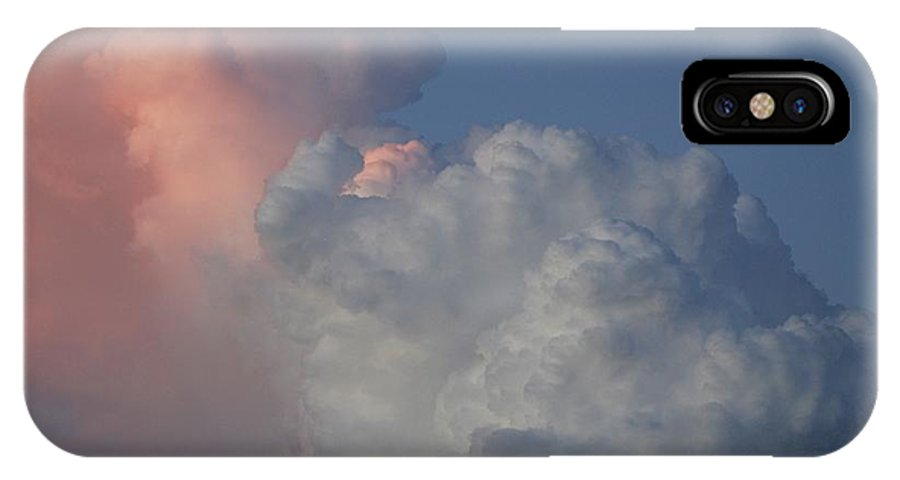 Clouds IPhone X Case featuring the photograph Elephant Sky by Rob Hans
