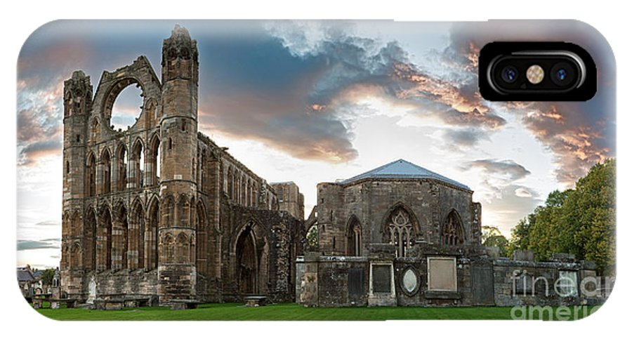 Elgin IPhone X Case featuring the photograph Elgin Cathedral by Jane Rix