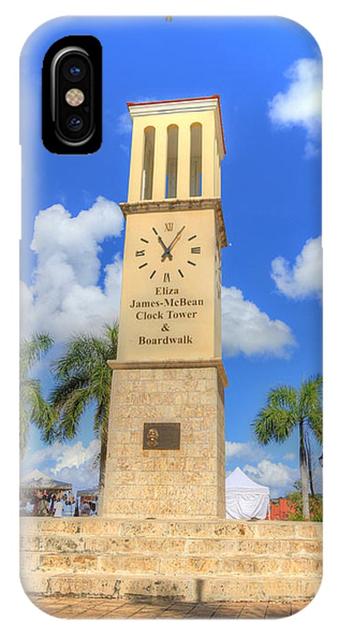 Boardwalk IPhone X Case featuring the photograph Eliza James-mcbean Clock Tower by Shelley Neff