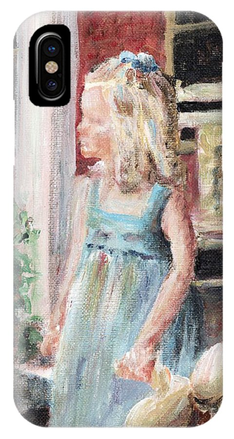 Girl IPhone Case featuring the painting Elizabeth Anne by Nadine Rippelmeyer