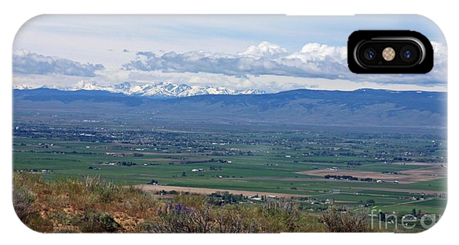 Ellensburg IPhone X Case featuring the photograph Ellensburg Valley With Sagebrush And Lupine by Carol Groenen