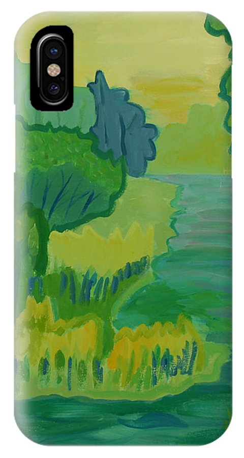 River IPhone X Case featuring the painting Ellis River by Debra Bretton Robinson