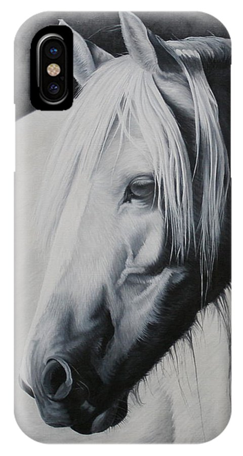 Portrait IPhone X Case featuring the painting Elsa-free Spirit by Pauline Sharp