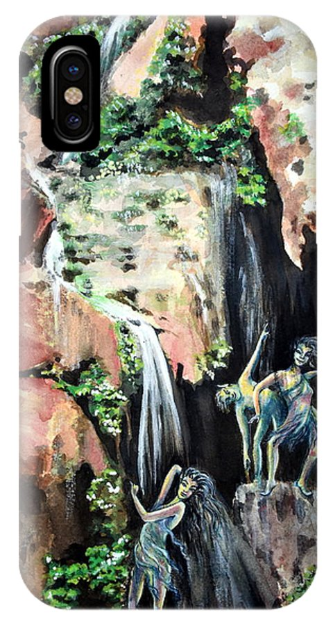 Grand Canyon National Park › South Rim IPhone X Case featuring the painting Elves Chasm by Susan Moore