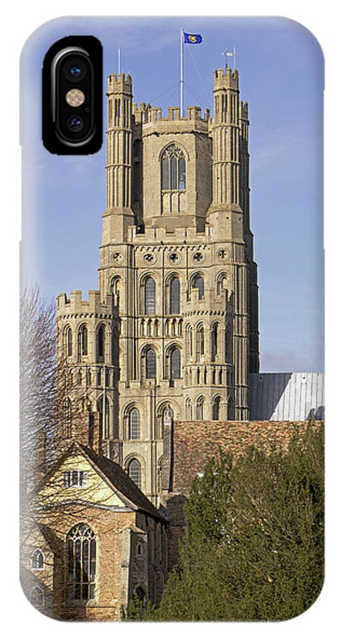 Ely Cathedral IPhone X Case featuring the photograph Ely Cathedral West Tower by Tony Murtagh