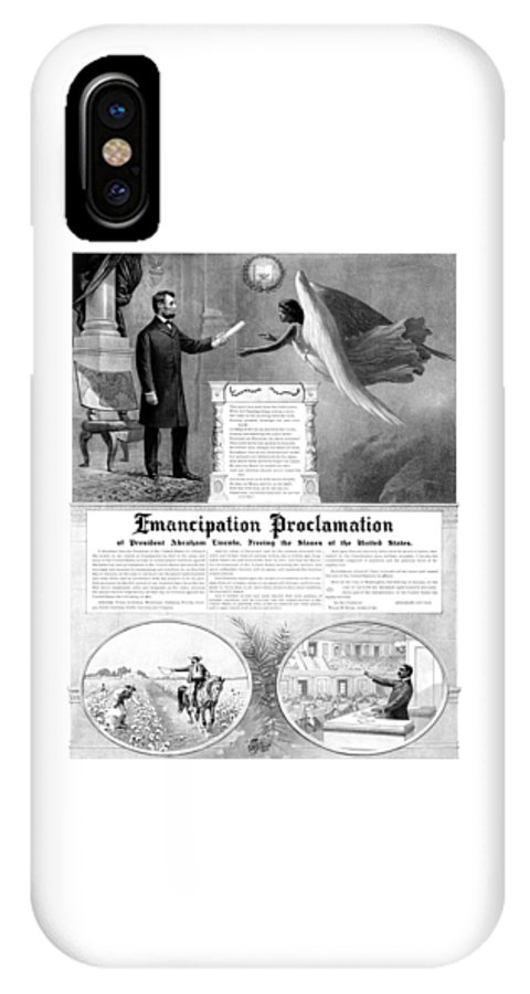 Emancipation Proclamation IPhone X Case featuring the mixed media Emancipation Proclamation by War Is Hell Store
