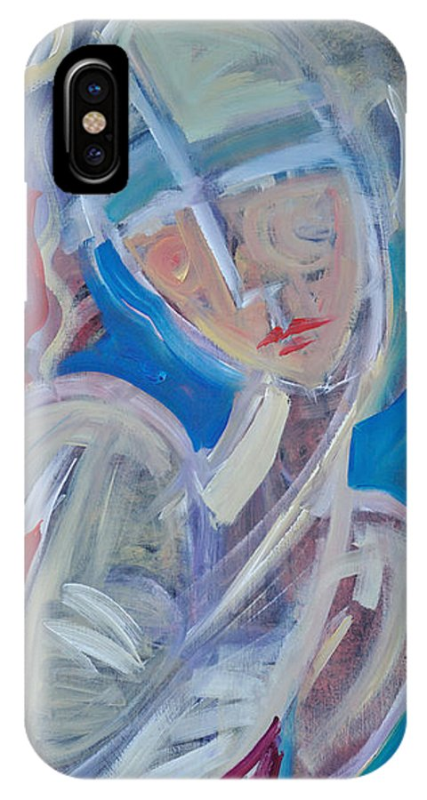 Woman IPhone X Case featuring the painting Embrace Me by Tim Nyberg