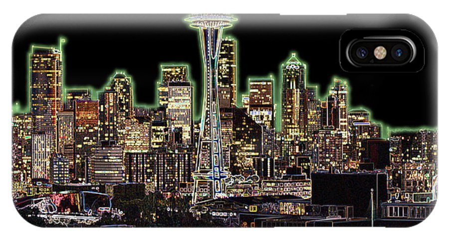 Colorful IPhone Case featuring the photograph Emerald City by Larry Keahey
