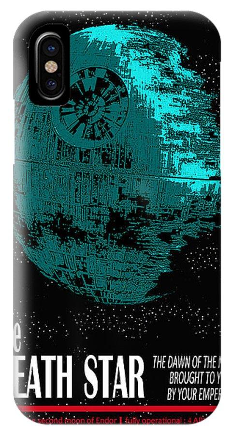 IPhone X Case featuring the digital art Empire Propaganda by Antoine Boutin