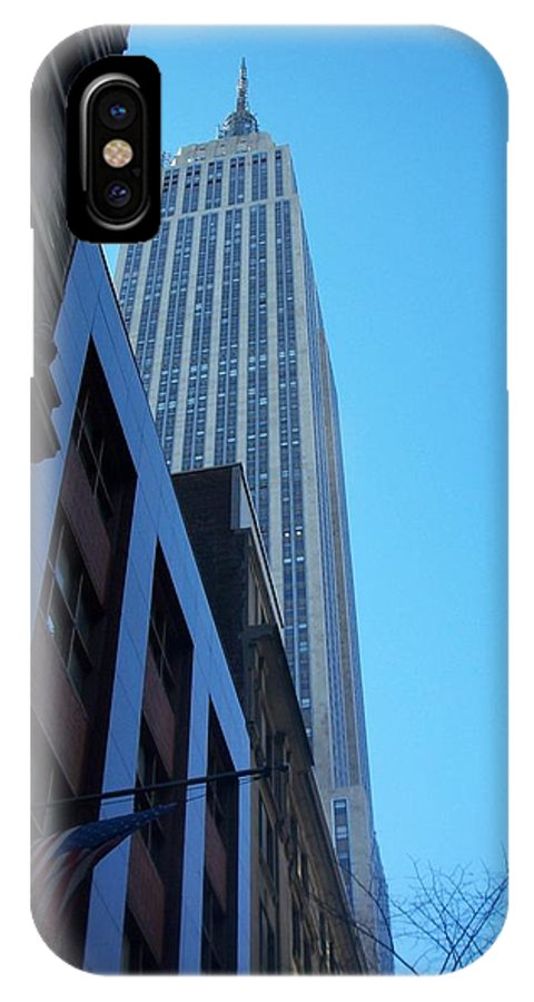 Emoire State Building IPhone X Case featuring the photograph Empire State 1 by Anita Burgermeister