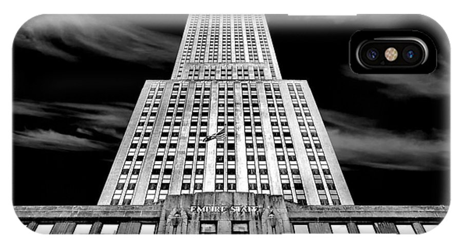 Empire State Building IPhone X Case featuring the photograph Empire State  by Az Jackson
