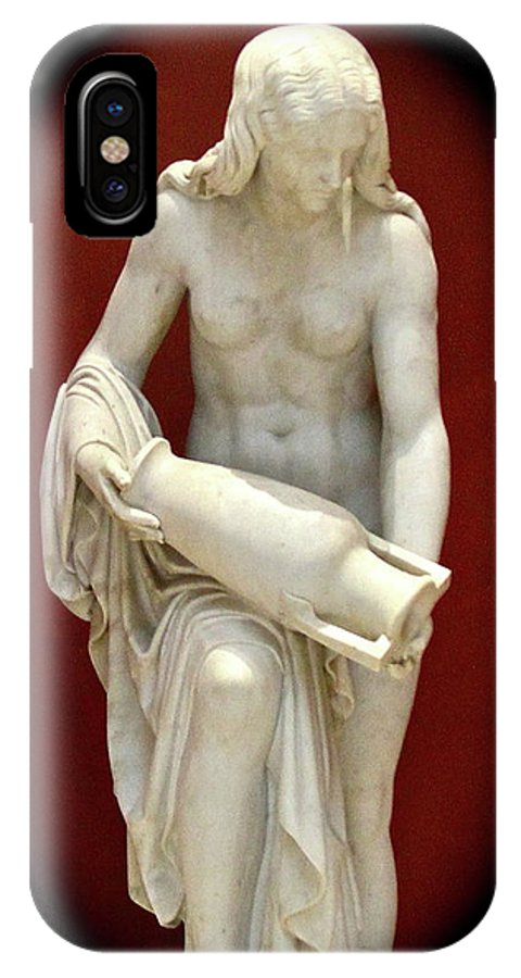 Statue IPhone X Case featuring the photograph Empty Vase II by Rick Monyahan
