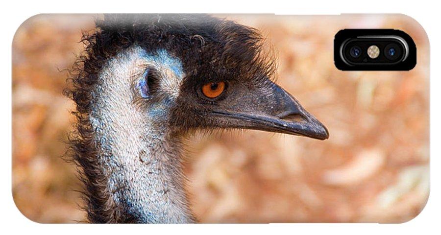 Emu IPhone X Case featuring the photograph Emu Profile by Mike Dawson