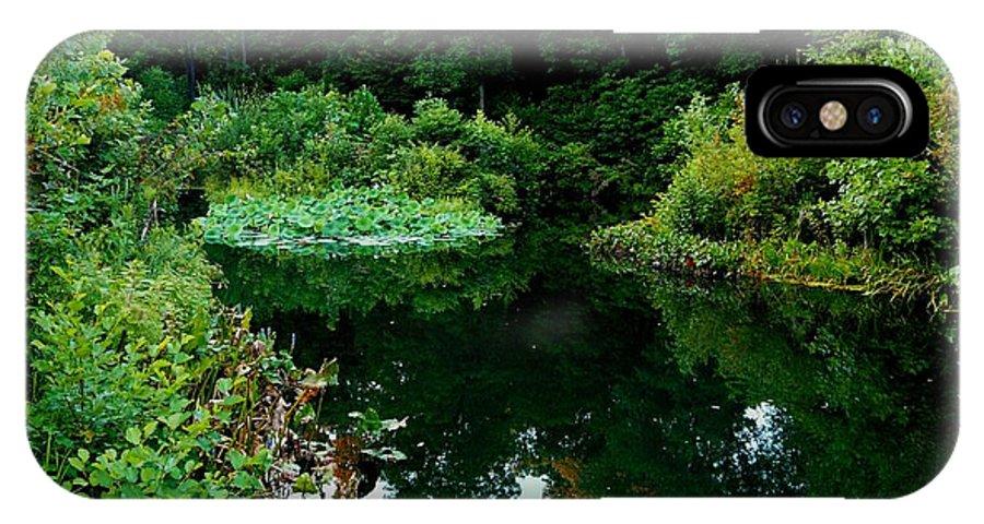 Garden IPhone X Case featuring the photograph Enchanted Gardens by Kendall Eutemey