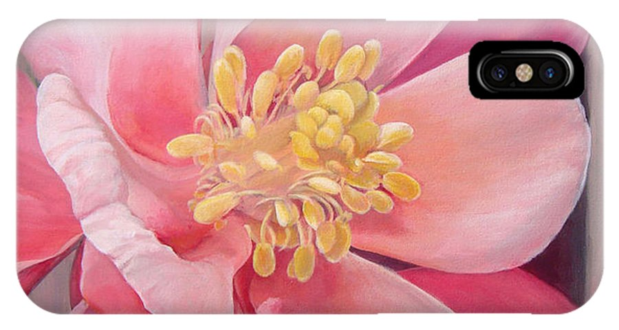 Floral Painting IPhone X Case featuring the painting Encolie by Muriel Dolemieux