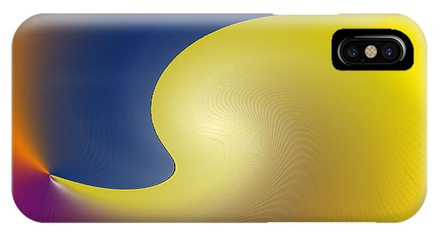Abstract IPhone X Case featuring the digital art Encroaching by Ian MacDonald