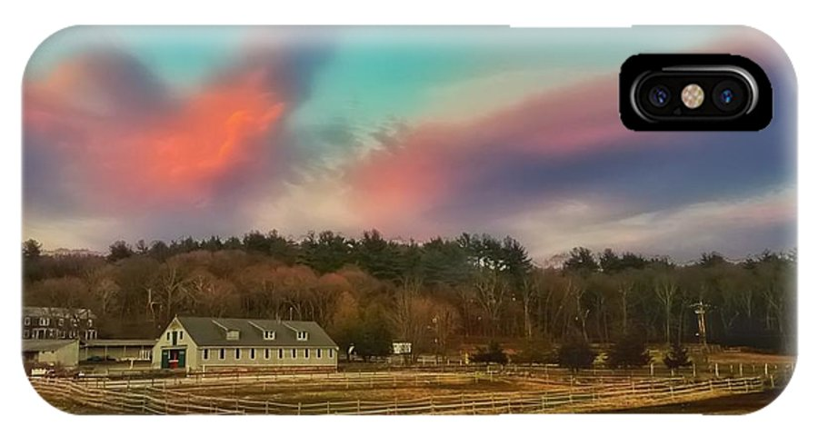 Farm IPhone X Case featuring the photograph End Of A Beautiful Day by Michael Krugman